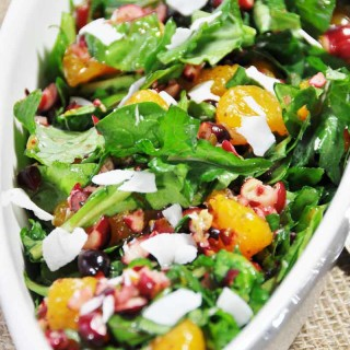 Christmas Power Salad with Orange Salad Dressing