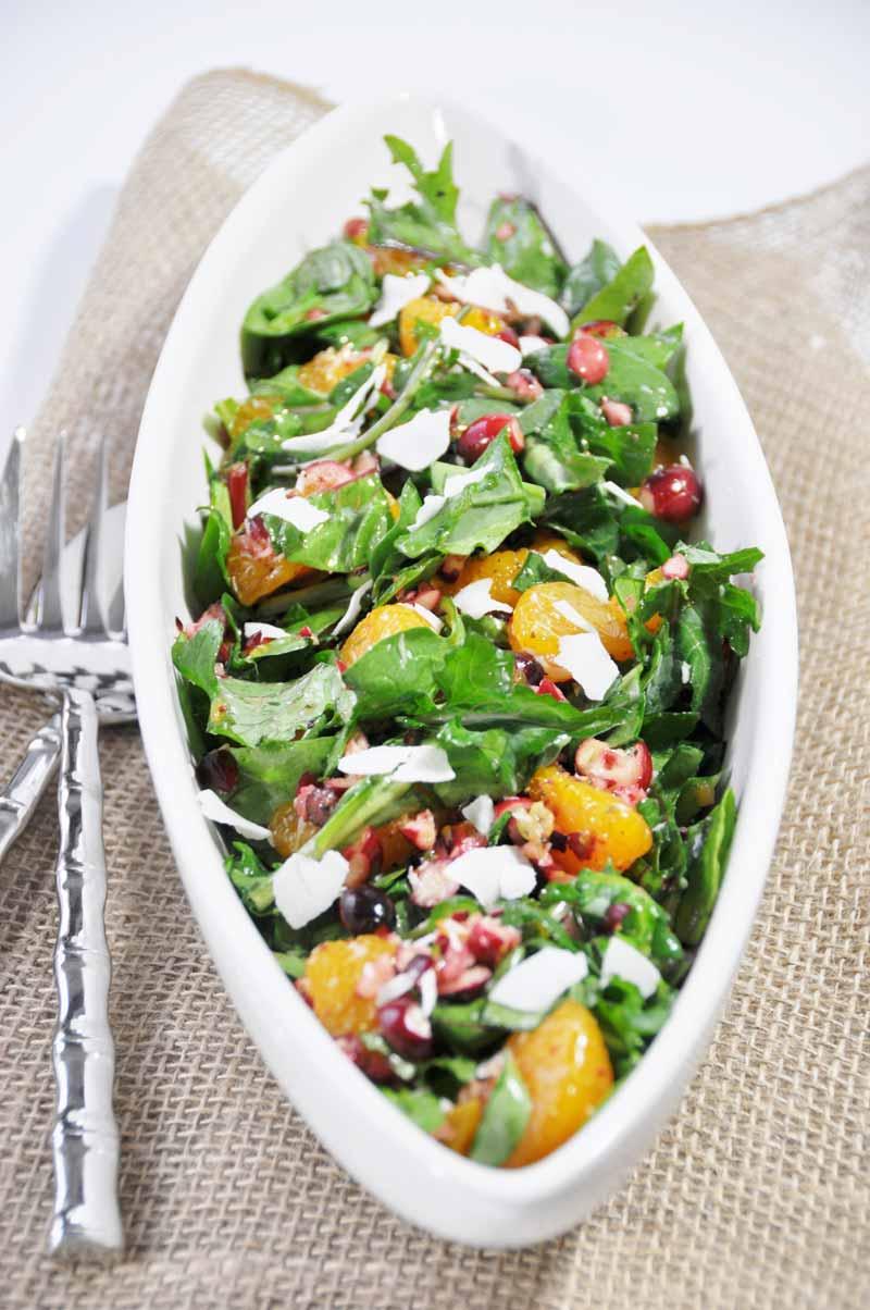 Christmas Power Salad with Orange Salad Dressing - Veganosity