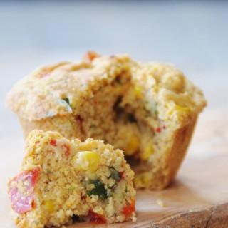 Savory Vegan Corn and Pepper Breakfast Muffins