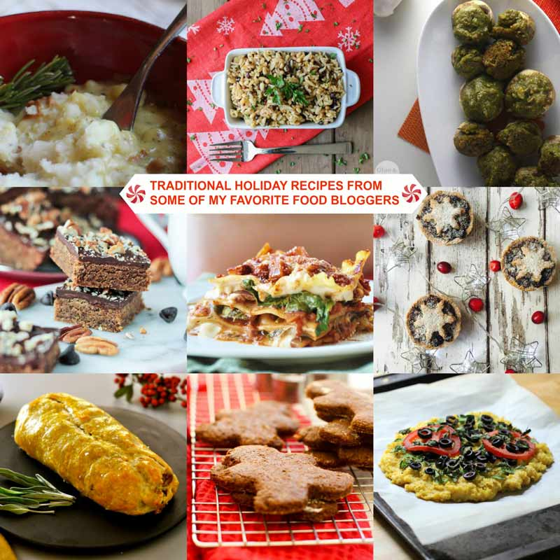 Traditional Holiday Recipes from Some of My Favorite Food Bloggers! A vegan recipe roundup of traditional holiday foods that everyone will love. www.veganosity.com