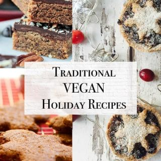 traditional vegan holiday recipes including vegan cookies, main courses, and sides
