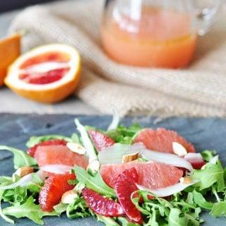 Winter Citrus & Arugula Salad with Cranberry Orange Dressing
