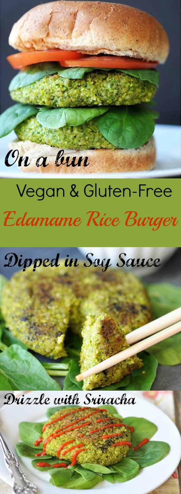 Edamame Rice Burger! This delicious edamame burger recipe is made with ...