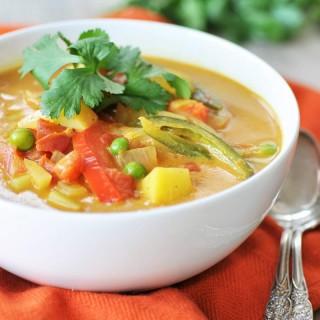 Homemade Yellow Curry Potato Soup