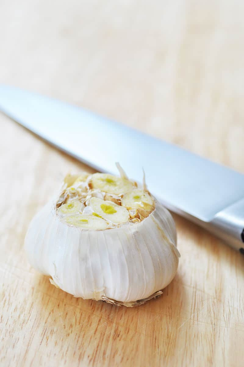 Simple and Easy Oil-Free Roasted Garlic! This is so easy even the most timid cook can make it. Oil-free recipe to make it even healthier. www.veganosity.com