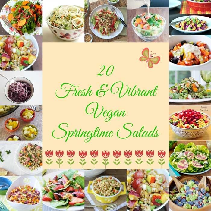 20 Fresh & Vibrant Vegan Springtime Salads