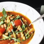 Minestrone Soup with Arugula