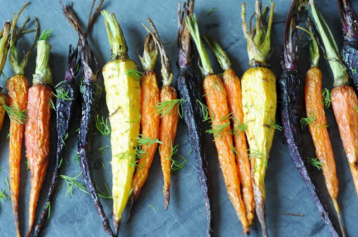 ca934ac0a1 Roasted Tri-Color Baby Carrots with Dill! This recipe is for those who love