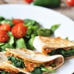 Spicy Mexican Hummus Quesadillas