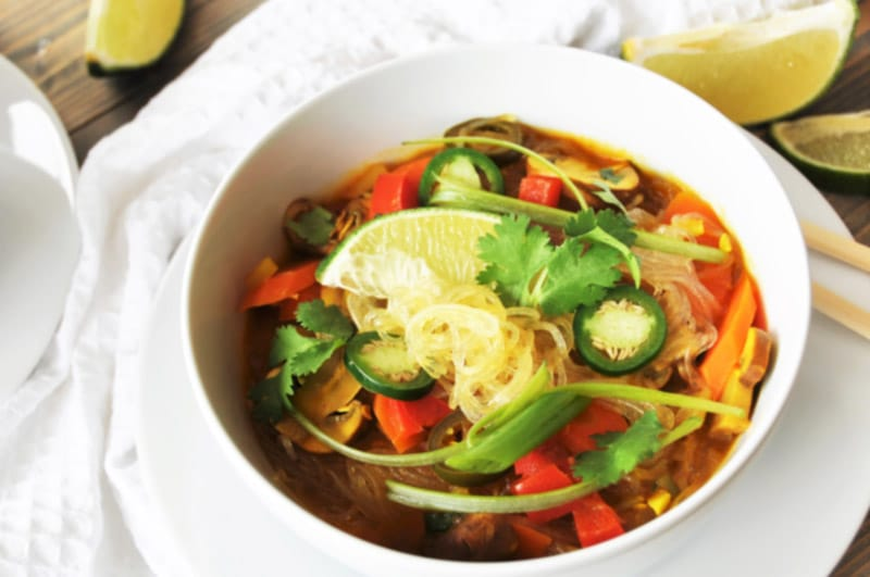 Asian Vegetable Gl Noodle Soup This Recipe Is Filled With Vegetables