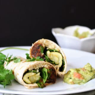 Roasted Veggie, Black Bean, & Quinoa Burritos