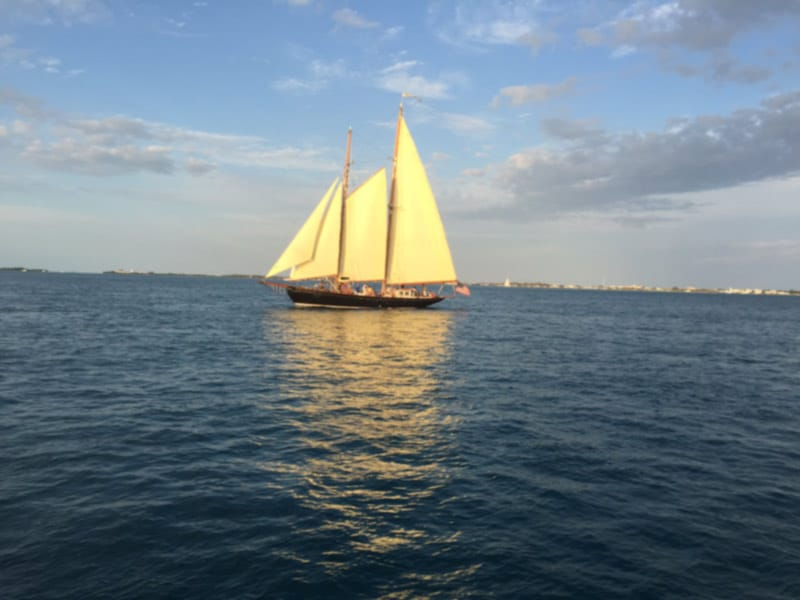 Sail boat in Key West, FL
