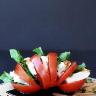Single Serving Vegan Caprese Salad