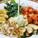 Summer Squash Buddha Bowl with Orange Ginger Dressing