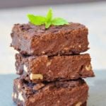 Vegan Chocolate Mint Protein Brownies