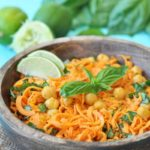Sweet Potato Noodle Salad with Sriracha Lime Peanut Sauce