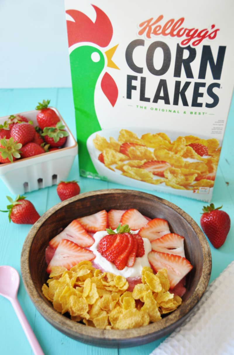 how to make corn flakes with milk