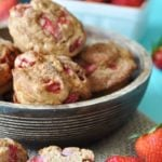 Vegan Whole Wheat Strawberry Muffins
