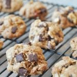 Crispy Vegan Chocolate Chunk Oatmeal Cookies