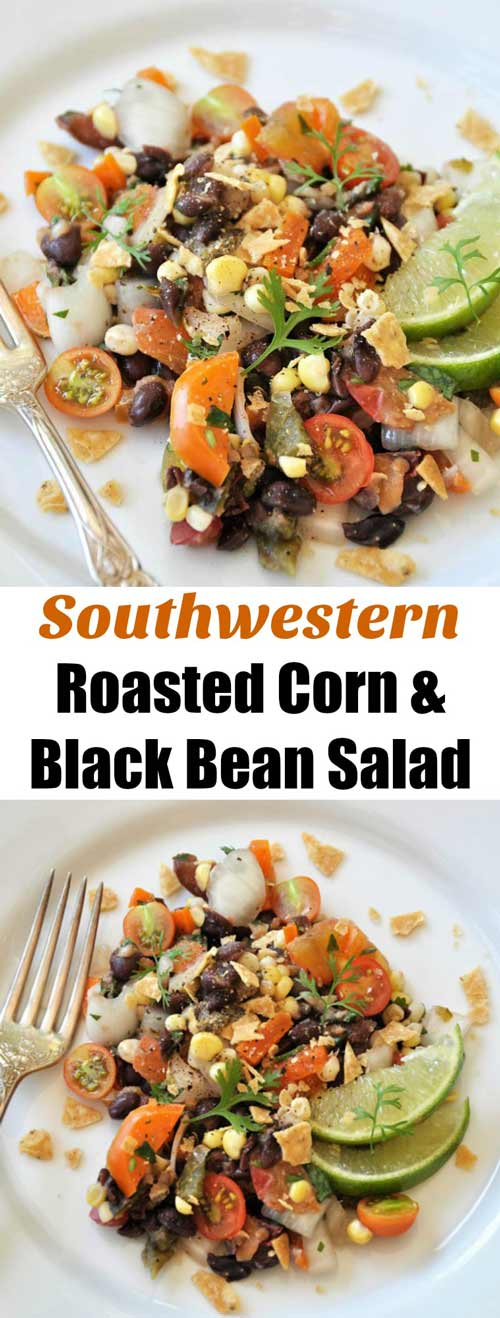http://www.veganosity.com/southwestern-roasted-corn-black-bean-salad/