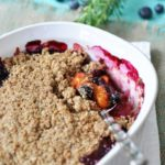 Vegan Blueberry Apricot Crisp