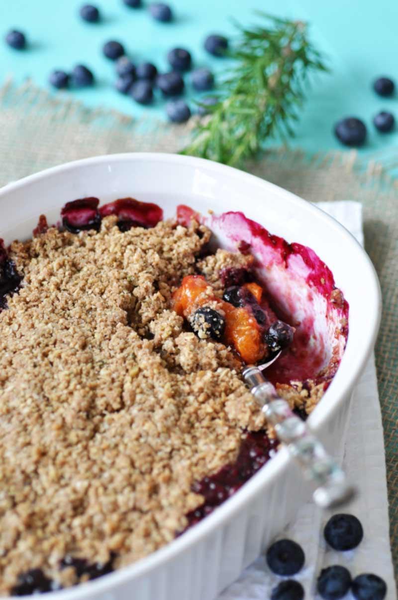 Apricot And Blueberry Crumble Recipe — Dishmaps