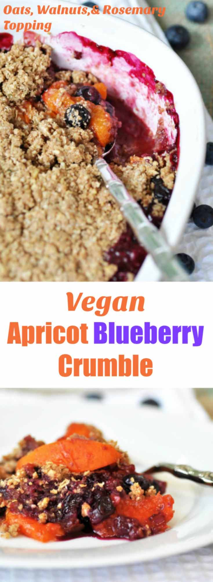 This vegan blueberry apricot crisp recipe is so sweet, so tart, and so ...
