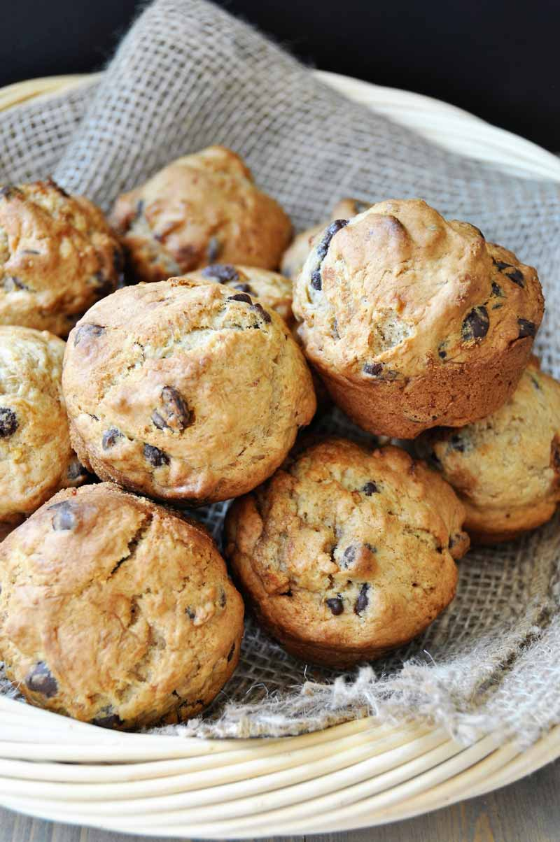 vegan chocolate chip banana bread muffins veganosity. Black Bedroom Furniture Sets. Home Design Ideas