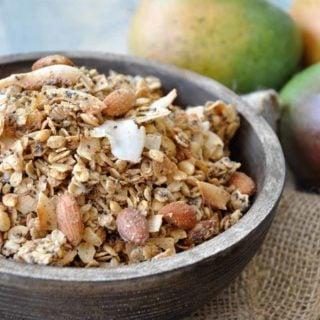 Homemade Tropical Mango Coconut Granola