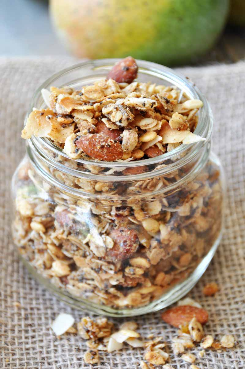 Tropical Granola With Coconut and Almonds