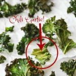 Homemade Chili Garlic Kale Chips