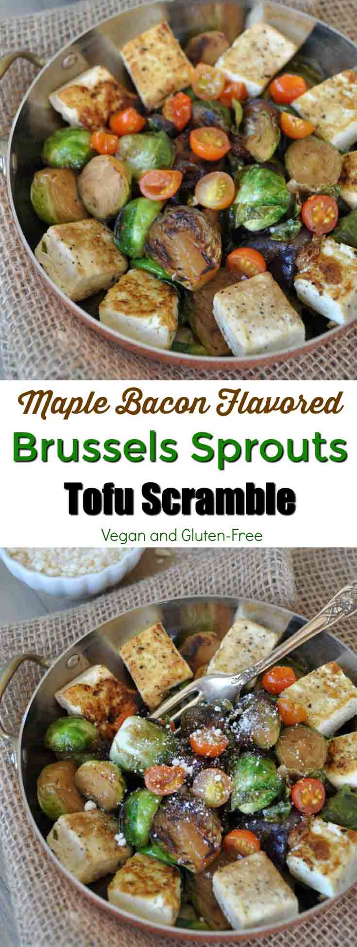 Smoky bacon flavored roasted Brussels sprouts and tofu! The perfect ...