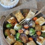 Bacon Flavored Roasted Brussels Sprouts Stir-Fry