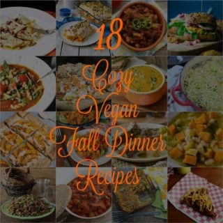 18 of the coziest fall dinner recipes ever! And they're all vegan! www.veganosity.com