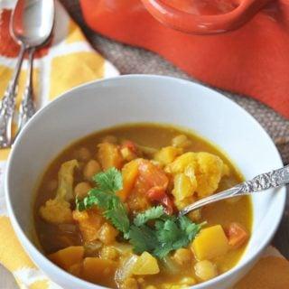 Curried Pumpkin & Butternut Squash Stew