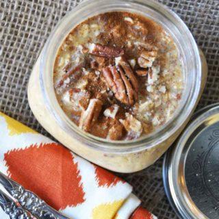 Pumpkin Pie Overnight Oats – Vegan and Gluten Free!