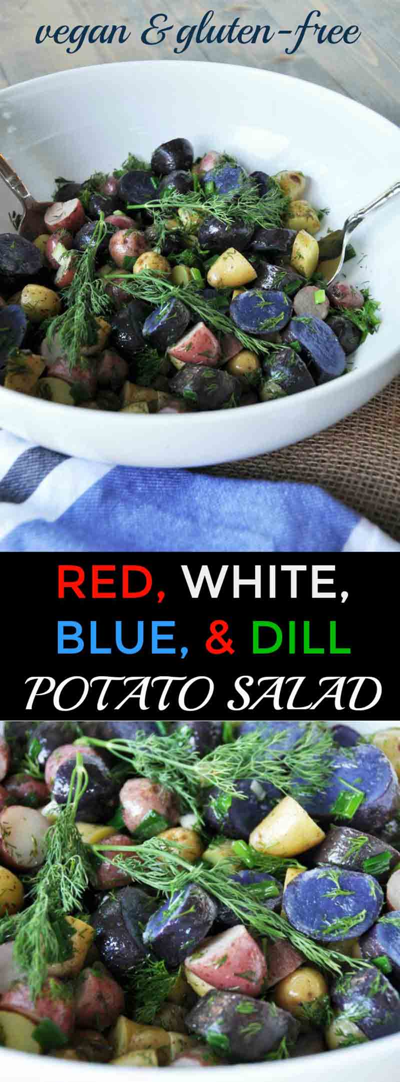 All American Red, White & Blue Potato Salad with Dill ...