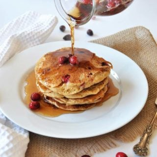 Vegan Cranberry Orange Pancakes