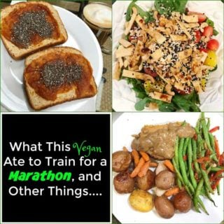See what I ate to get enough protein and nutrients on a plant-based vegan diet while training for a marathon! www.veganosity.com