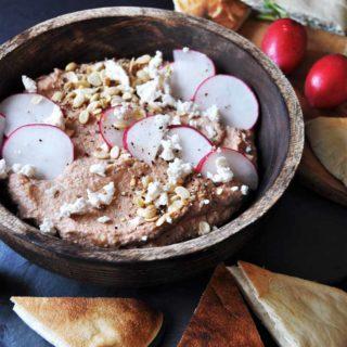 Tahini and Beet Hummus