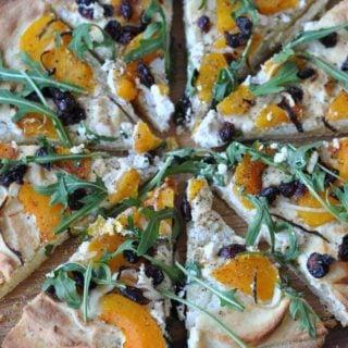 Butternut Squash and Almond Ricotta Pizza