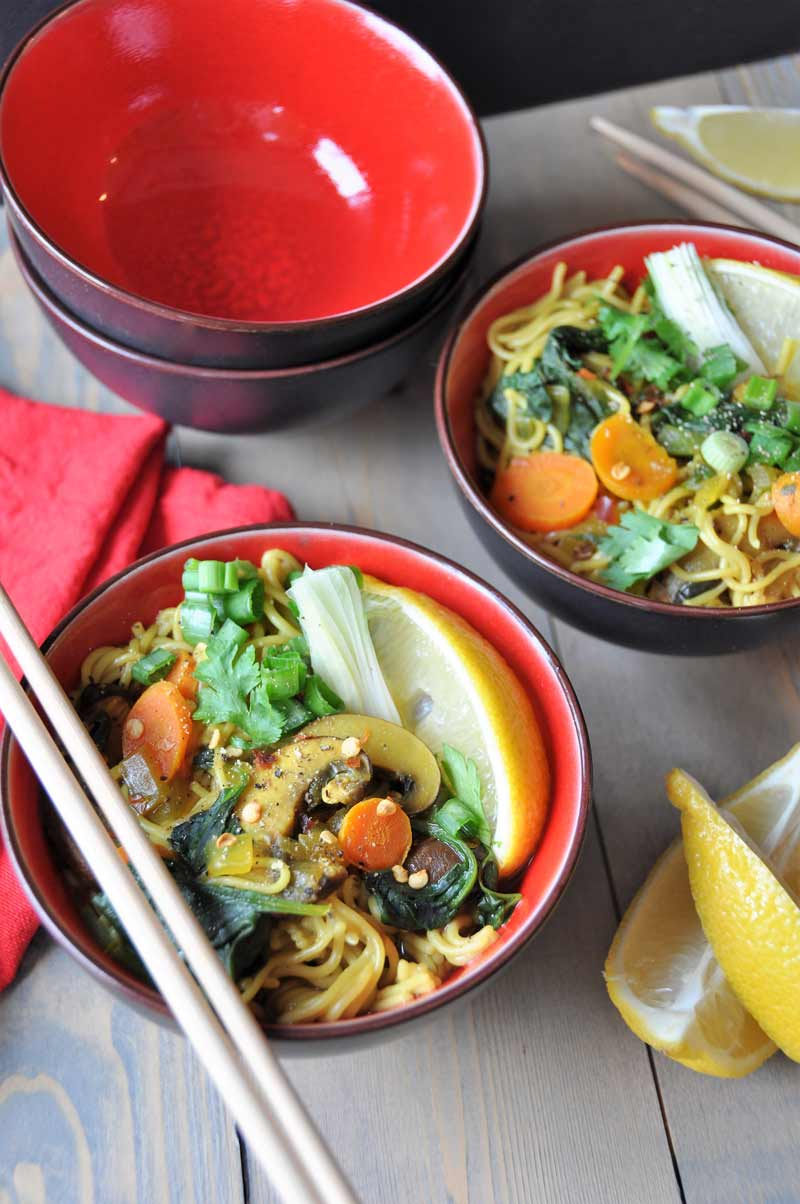 Vegan Gluten Free Ramen Noodle Soup Filled With Delicious Flavors And Veggies So