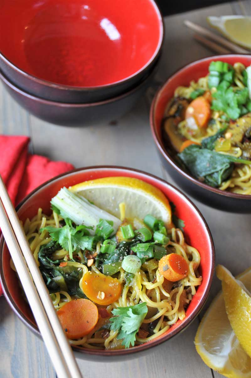 Homemade Vegan & Gluten-Free Asian Ramen Noodle Soup