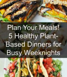 Vegan meal plan. 5 nights of healthy vegan dinners. www.veganosity.com