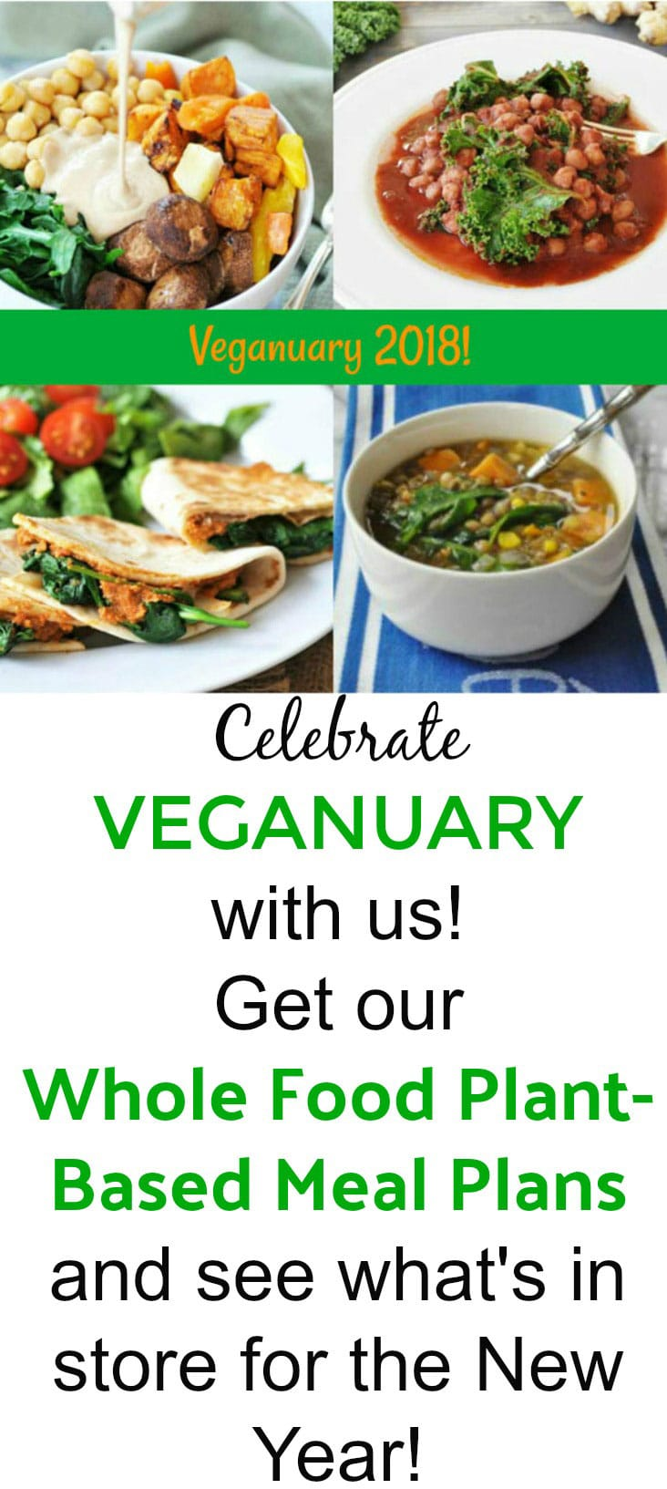 Celebrate Veganuary with 5 healthy meal plans and more to come!