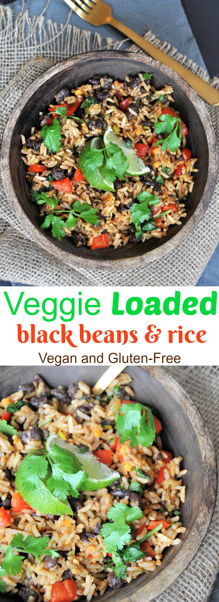 Veggie Loaded Black Beans And Rice Veganosity
