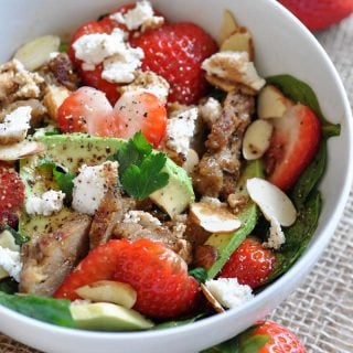 Strawberry Avocado Chikn' Salad