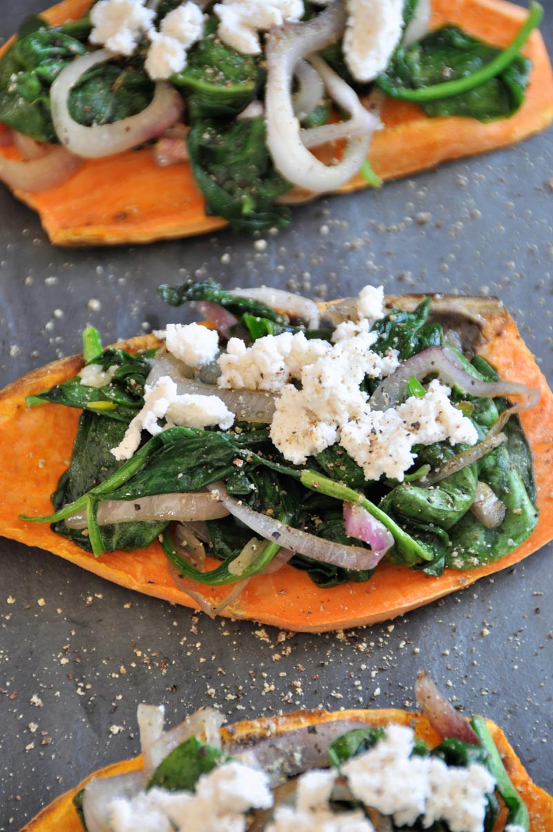 Sweet potato toast bruschetta is a quick, easy, and healthy twist on a popular appetizer. Vegan, gluten-free, dairy-free, and delicious!