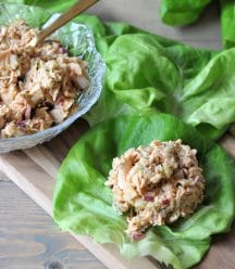 "The texture of jackfruit is so much like tuna. This vegan ""tuna"" salad is healthy, dairy-free, meat-free, and delicious!"