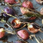 Simple Roasted Radishes with Balsamic